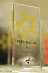 """Inžinerinės varžybos """"EBEC Kaunas'15"""": rekordinis dalyvių skaičius ir stebinantys užduočių sprendimai"""