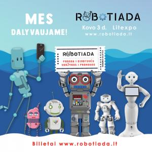Didžioji išradėjų šventė Robotiada 2018 sugrįžta!